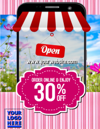Online Store Flyer (US Letter) template