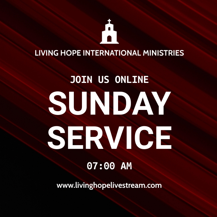 Online Sunday Service Pos Instagram template