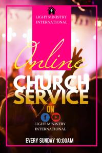 Online Sunday Service Póster template