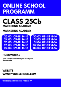 Online Teaching School Programm Information A4 template