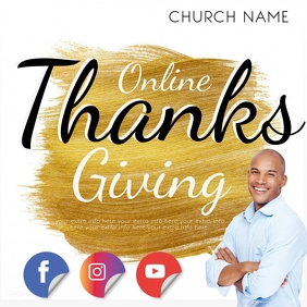 online thanksgiving event AD template Instagram Post