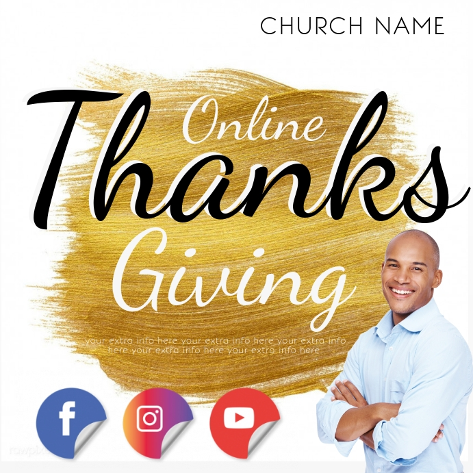 online thanksgiving event AD template Instagram na Post