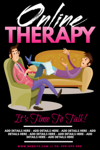 Online Therapy Poster template