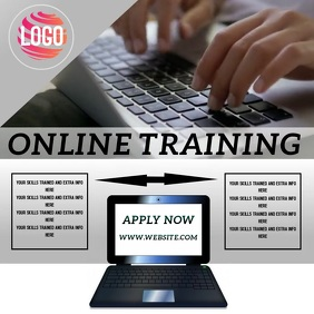 ONLINE TRAINING AD TEMPLATE Instagram Post