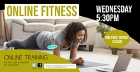 Online Training fitness cover marketing sport template
