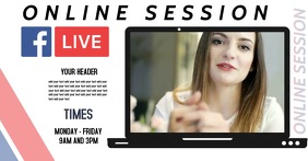 ONLINE TRAINING SESSION AD SCHEDULE Facebook Shared Image template