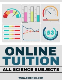 Online Tuition Flyer Template