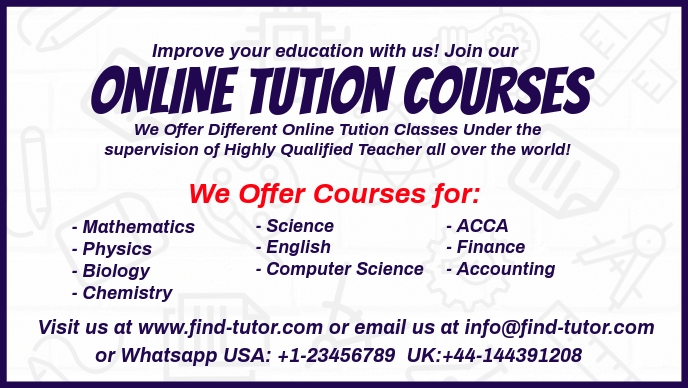 Online Tution Courses Template Facebook Cover Video (16:9)