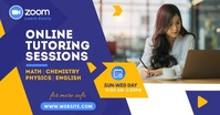 Online Tutor Ad Facebook Shared Image template