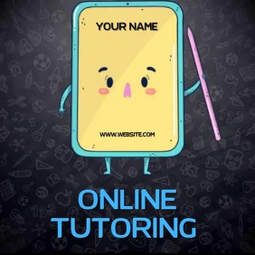 ONLINE TUTORING AD SOCIAL MEDIA TEMPLATE