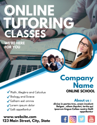 Online tutoring classes flyer advertisement