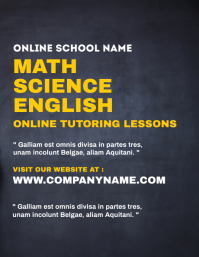 Online tutoring lessons flyer