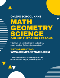 online tutoring lessons flyer template
