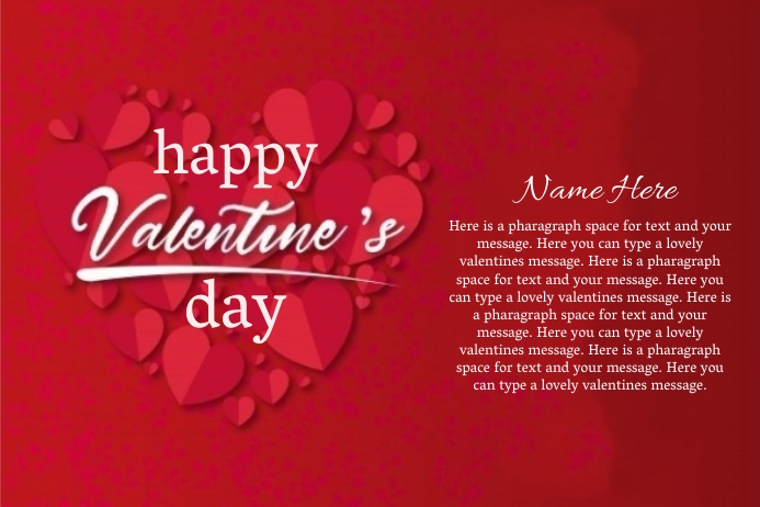 Online valentine's day card design template