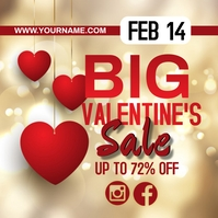 ONLINE VALENTINE'S SALE TEMPLATE DESIGN Square (1:1)