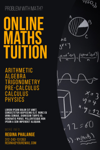 Online Video Math Tuition Flyer Template Poster