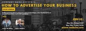 online webinar facebook cover advertisement