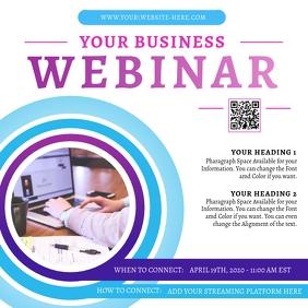 online webinar flyer template
