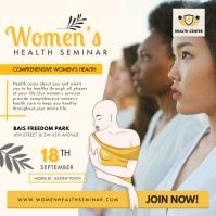 Online Women's Seminar Advertisement Online Publicación de Instagram template