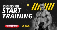 Online Workout Training Video Thumbnail Facebook Shared Image template