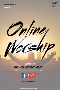 ONLINE WORSHIP Plakkaat template
