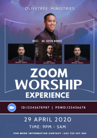 online worship experience flyer A3 template