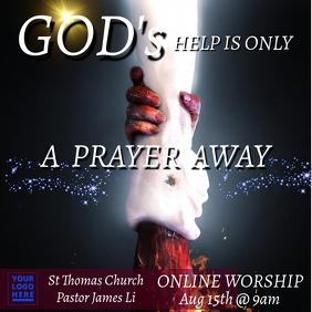 Online worship template Iphosti le-Instagram