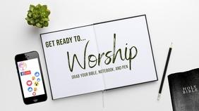 Online Worship Welcome Digital Display (16:9) template
