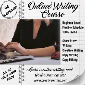Online Writing Course Video Template