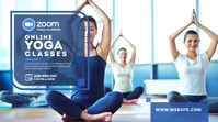 Online Yoga Classes Ad Twitter Plasing template
