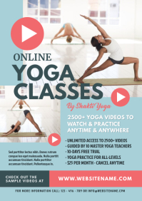 Online Yoga Classes Flyer
