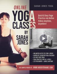 Online Yoga Classes Flyer