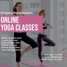 online yoga classes instagram post ad