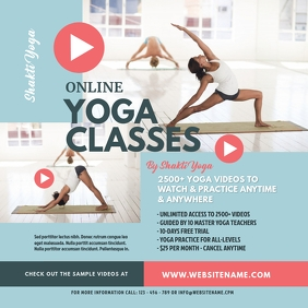 Online Yoga Classes Instagram Post