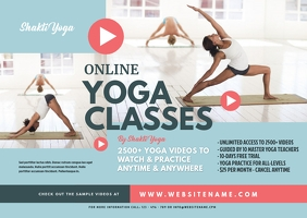 Online Yoga Classes Postcard template