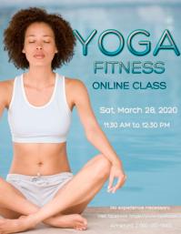Online yoga fitness class