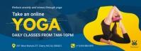 Online Yoga Fitness Class Facebook Banner template