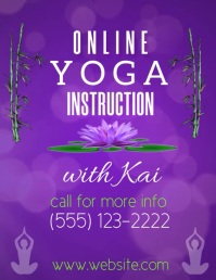 Online Yoga Instruction Video Flyer (US Letter) template