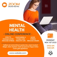 online zoom conference meeting Instagram Post template