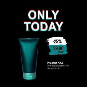 Only Today Deal of the Day Special Offer Ad 方形(1:1) template