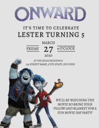 Onward Birthday Party Invitation Template