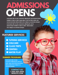 Open Admission Flyer (US Letter) template