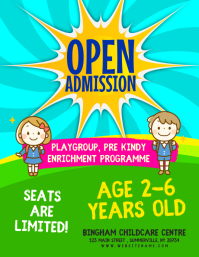 Open Admission Flyer