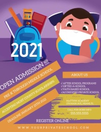 Open Admission School Academy Flyer Volantino (US Letter) template