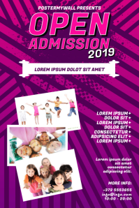 Open Admission School Flyer Template