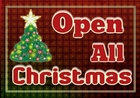 Open all christmas days holiday opening hours