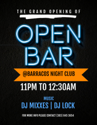 Open Bar Flyer