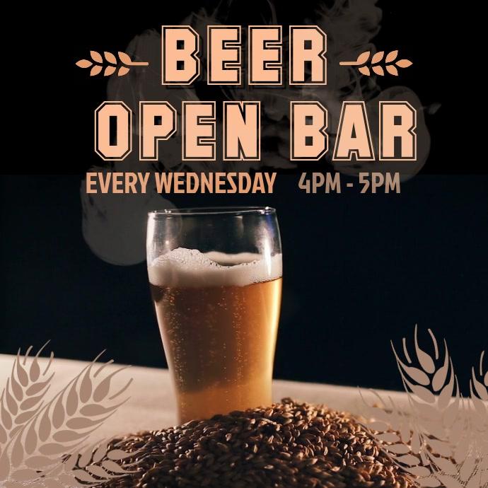 Open Bar Promo Video template