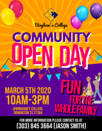Open Day Flyer