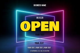 OPEN Label template
